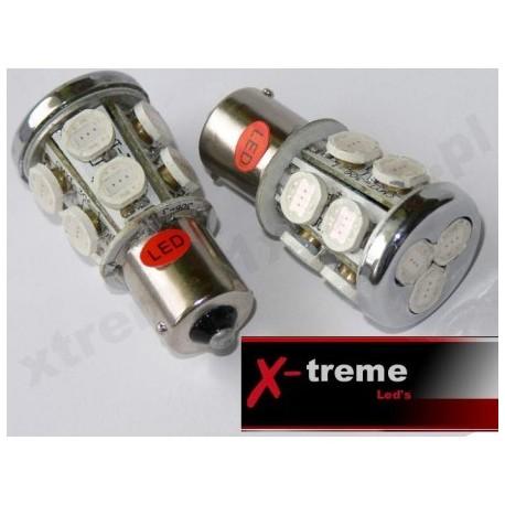 1156 Ba15s / P21W 13xHyper LED czerwona 12Volt