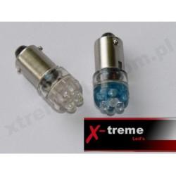 Ba9s / T4W 4 x LED Super Mocne