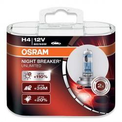 Żarówki H4 OSRAM Night Breaker UNLIMITED + 110% Cena za komplet/2szt.