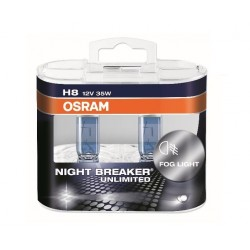 Żarówki H8 OSRAM Night Breaker UNLIMITED + 110% Cena za komplet/2szt.