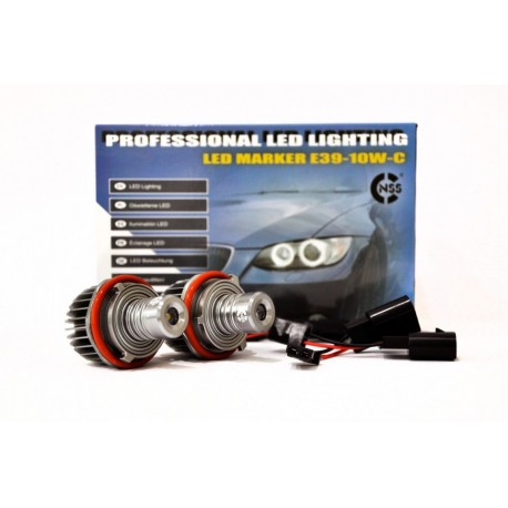 LED MARKERy NSSC 2 x 10W CREE 270LM Ringi ANGEL EYES do BMW serii 5 ,7 ,X3,x5