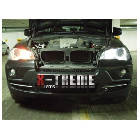 H8 20W Super CREE BLACK LINE Ringi ANGEL EYES do BMW po 2007r. LED MARKER e60 e63 e92 e93 e87 e70 e71