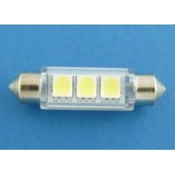 10x42 3 x SMD LED 5050 WARM WHITE żarówka rurkowa C5W XTREME TECHNOLOGY