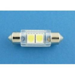 10x31 2 x SMD LED 5050 żarówka rurkowa c3w