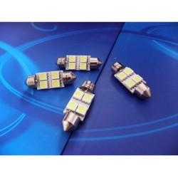 10x36 4 x SMD LED 5050 żarówka rurkowa C5W XTREME TECHNOLOGY