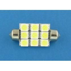 10x36 9 x SMD LED 5050 żarówka rurkowa C5W XTREME TECHNOLOGY