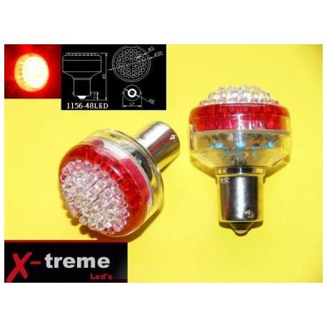 1156 Ba15s  P21W 48 x LED czerwone 24 Volt TIR PROMOCJA !!!