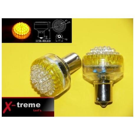 1156 Ba15s  P21W 48 x LED pomarańczowe 24 Volt TIR WYPRZEDAŻ !!!