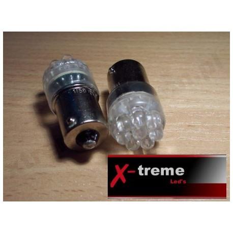 Ba15s  R5W R10W  8 x LED białe,niebieskie 24 Volt TIR