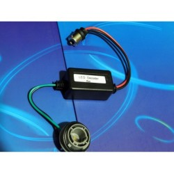Adaptor z dekoderem BŁĘDU do żarówek LED Ba15s / P21W / 1156 auta z komputerem itp
