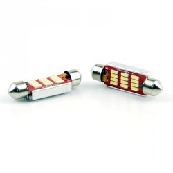 żarówki rurkowe C10W 10x42 mm CAN BUS High Power 12 x SMD z RADIATOREM do aut z komputerem
