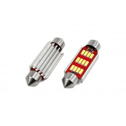 żarówki rurkowe C10W 10x41 mm CAN BUS High Power 12x SMD z RADIATOREM do aut z komputerem
